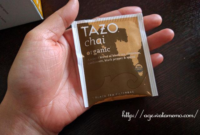 Tazo Teas, オーガニック・チャイ、ブラックティー、20 フィルターバッグ、1.9 oz (54 g)