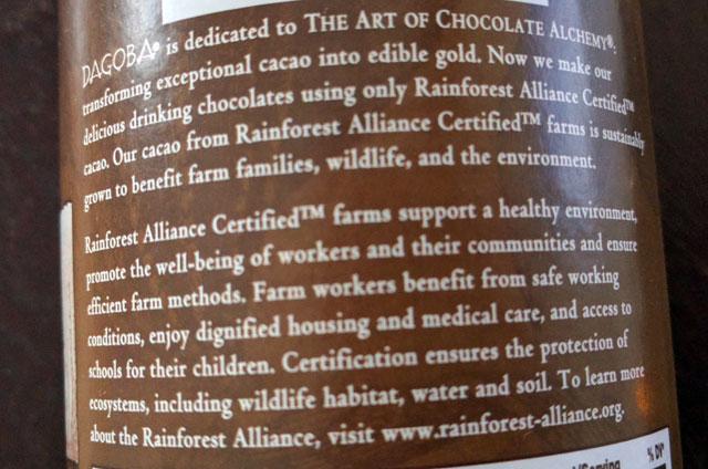 Dagoba Organic Chocolate(ダゴバオーガニックチョコレート)より 飲むチョコレート(340g)