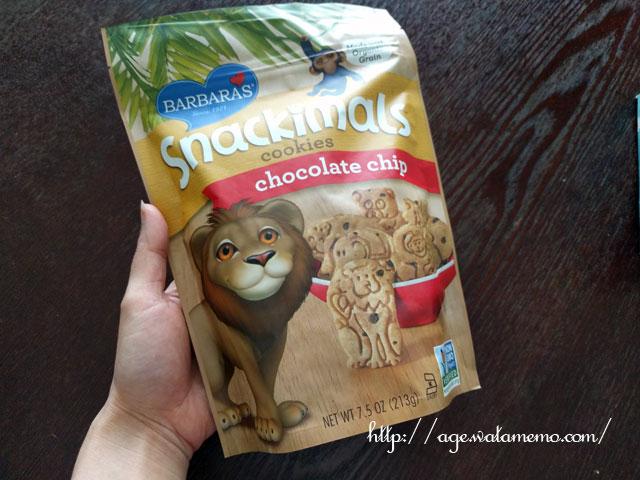 Barbara's Bakery, Snackimals 動物クッキー チョコレートチップ 2.125 oz (60 g)