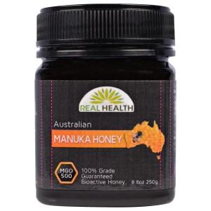 Real Health, オーストラリア産マヌカハニー、MGO 500、8.8オンス(250g)