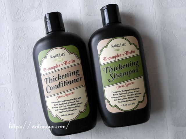Madre Labs, Thickening B-Complex + Biotin Shampoo、No Sulfates、Citrus Squeeze、14液量オンス