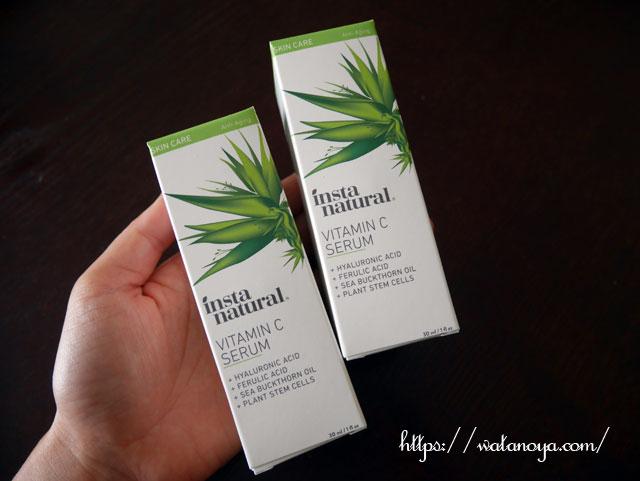 InstaNatural, ビタミンCセラム2パックスキンキット、2パック、各1 fl. oz (30 ml)