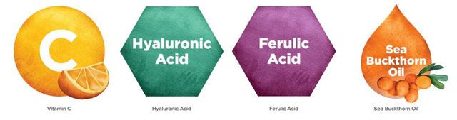 InstaNatural, Vitamin C Serum with Hyaluronic Acid + Ferulic Acid, Anti-Aging