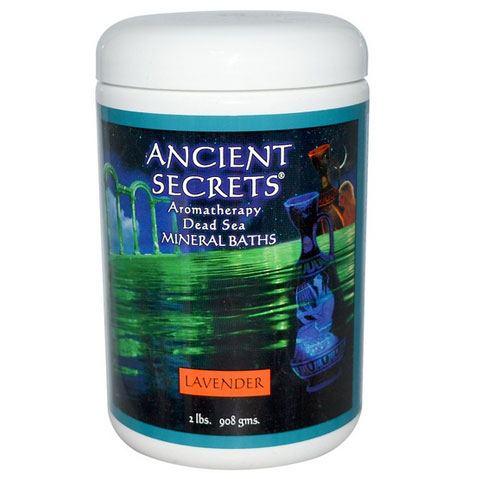 Ancient Secrets, Lotus Brand Inc., アロマテラピー・死海ミネラルバス、 ラベンダー、 2ポンド (908 g)