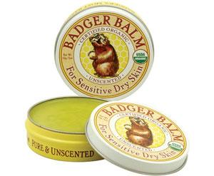 Badger Company, Badger バルム、センシティブな乾燥肌用、 無香料 2オンス (56 g)