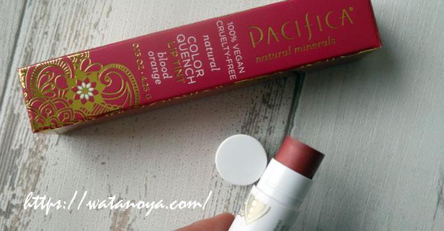 Pacifica, ナチュラルカラー・クエンチリップティント、ブラッドオレンジ0.15 oz (4.25 g)