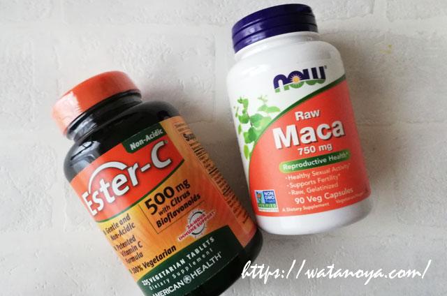 merican Health, エスターC、 500 mg、シトラスフラボノイド入り、 225ベジタブレット‗ow Foods, マカ, 生, 750 mg, 90粒(ベジタリアンカプセル)