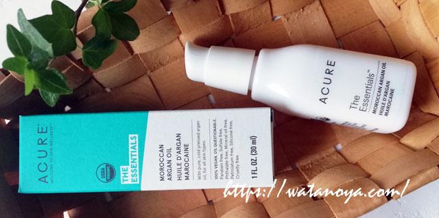 さっぱりとした軽やかなオイル アキュア Acure, The Essentials モロッコ産アルガンオイル 1 fl oz (30 ml)