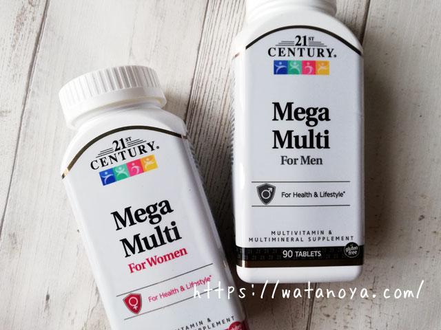 21st Century, メガマルチ, 女性用, マルチビタミン&マルチミネラル, 90錠 男性用