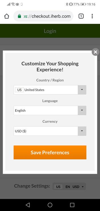 アイハーブ、英語サイトから日本語サイトに切り替える方法