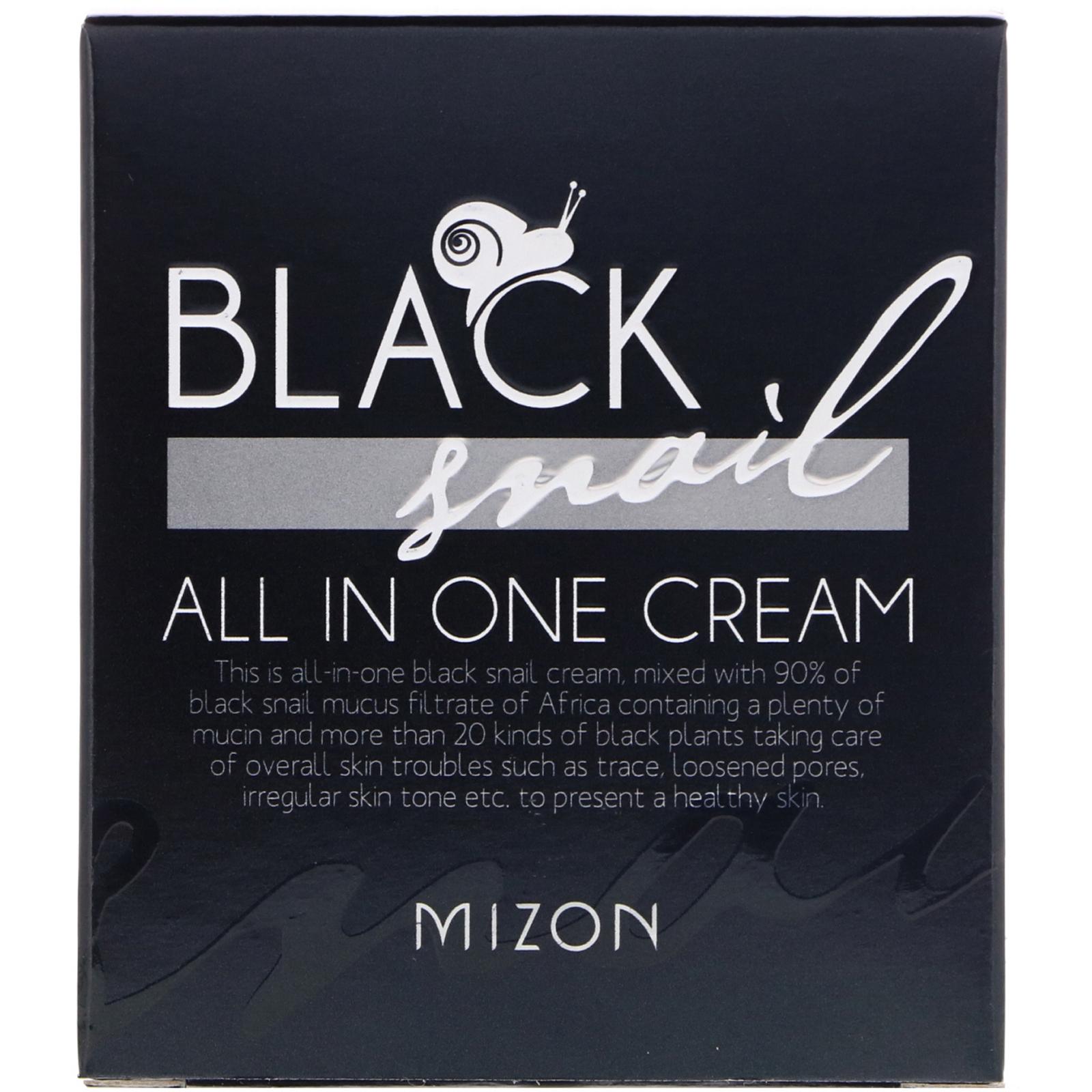 Mizon, ブラックカタツムリ、オールインワンクリーム、2.53 fl oz (75 ml)