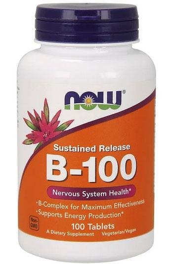 Now Foods, B-100、 持続放出型、 100錠