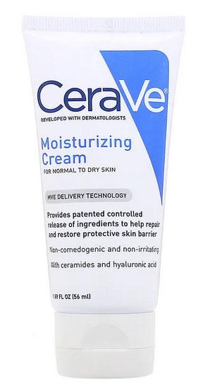 CeraVe, モイスチャライジングクリーム、普通~乾燥肌用、1.89fl oz(56ml)