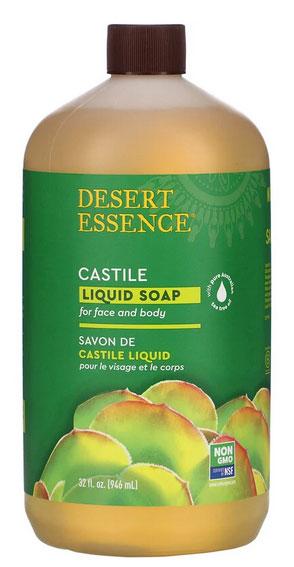 Desert Essence, エコーハーベストティーツリーオイル配合カスチール石鹸, 32 fl oz (960 ml)