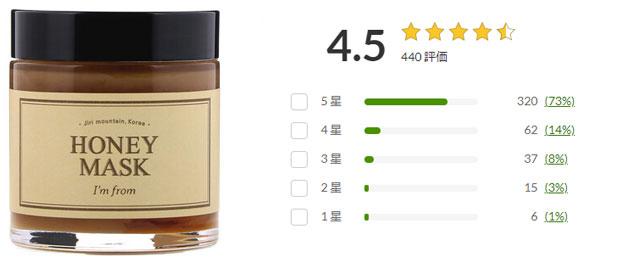 アイムフロム Honey Mask, 4.23 oz (120 g)