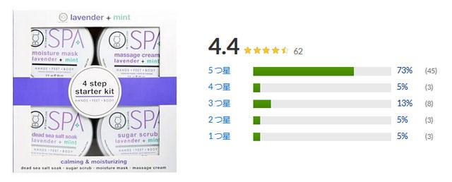 ペタルフレッシュ Petal Fresh, Spa, 4 Step Starter Kit, Calming & Moisturizing, Lavender + Mint, 4 - 3 fl oz