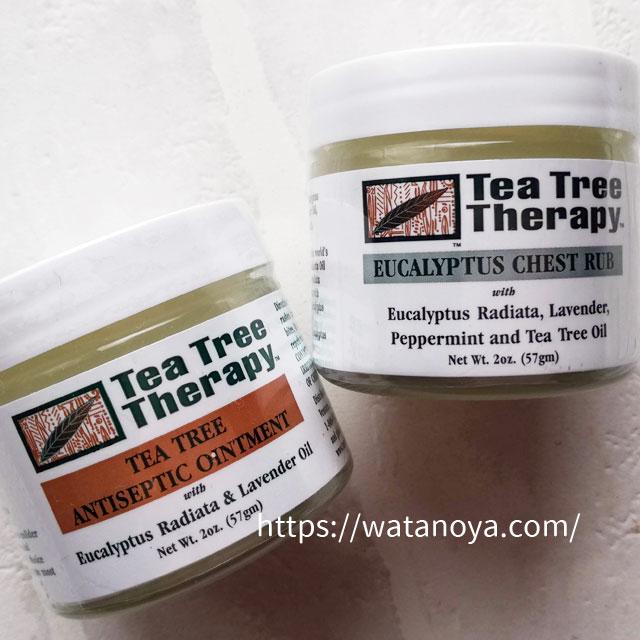 Tea Tree Therapy, ティーツリー アンティセプティックオイントメント(消毒軟膏)、2 oz (57 g) Tea Tree Therapy, ユーカリチェストラブ、 2オンス (57 g)