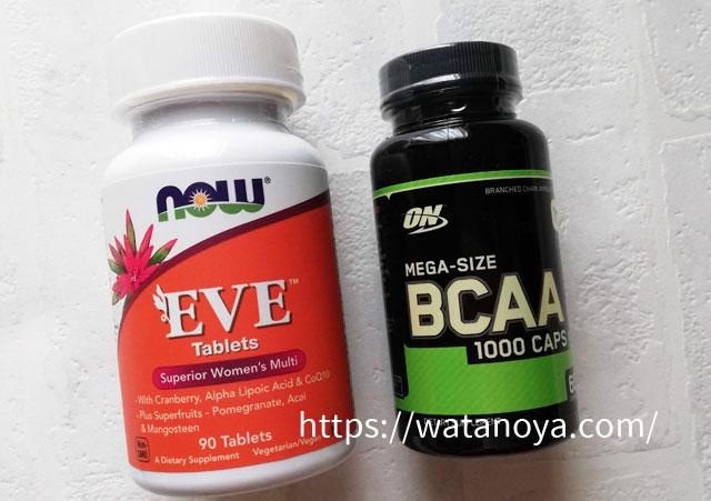 Optimum Nutrition, BCAA 1000 キャップ, メガ・サイズ, 1 g, 60 カプセル Now Foods, イブ、スペリアー・ウーマンズ・マルチ、90タブレット