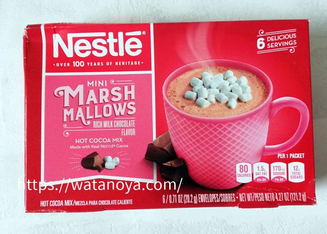 Nestle Hot Cocoa Mix, ミニマシュマロ、ホットココアミックス、6小袋入り、 0.71 oz (20.2 g) Each