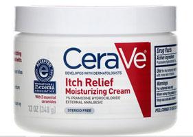CeraVe, かゆみを軽減する保湿クリーム、340g(12オンス)