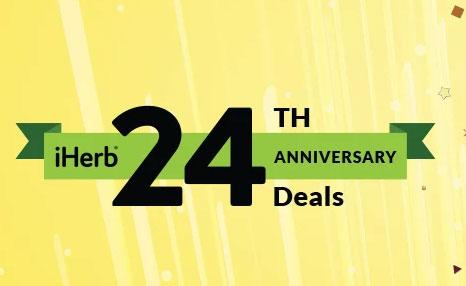 iHerb 設立24周年記念セール、日替わりで24%OFFカテゴリーやブランドが登場【2020年】