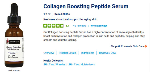 Life Extension Collagen Boosting Peptide Serum