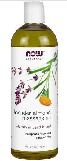 Now Foods, ソリューションズ, ラベンダー・アーモンド・マッサージオイル, 16 液量オンス(473 ml)