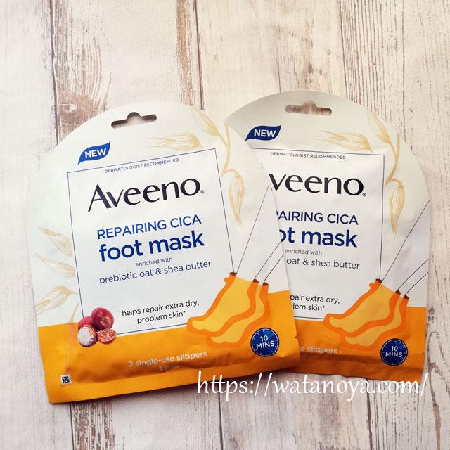 Aveeno, 修復シカフットマスク、使い捨てスリッパ2個入