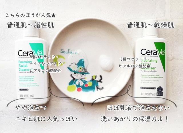 CeraVeのフェイシャルクレンザー