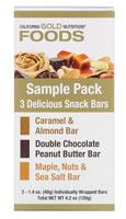 California Gold Nutrition, サンプルスナックバーパック、3本、各40g(1.4オンス)