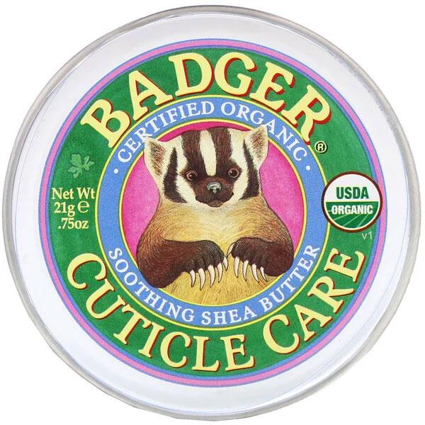Badger Company, オーガニックキューティクルケア、スージングシアバター、21g(.75oz)