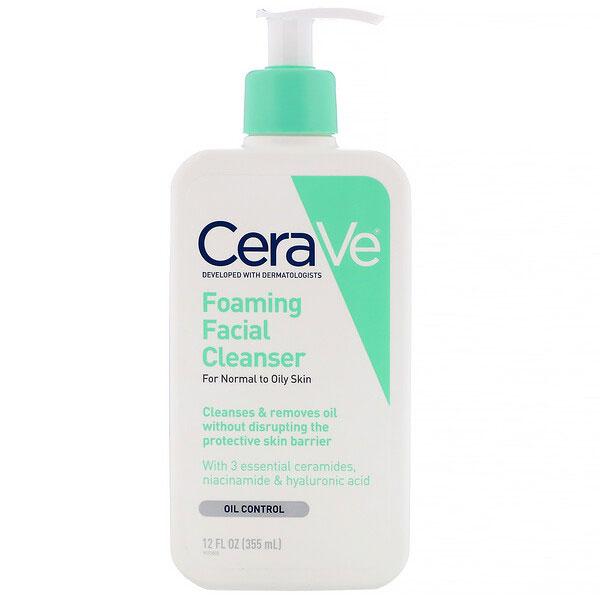 CeraVe, フォーミングフェイシャルクレンザー、普通肌~オイリー肌用、355ml(12液量オンス)