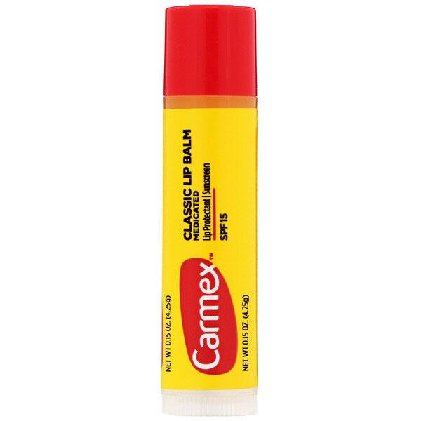 Carmex, クラシックリップクリーム、薬用、SPF15、4.25 g