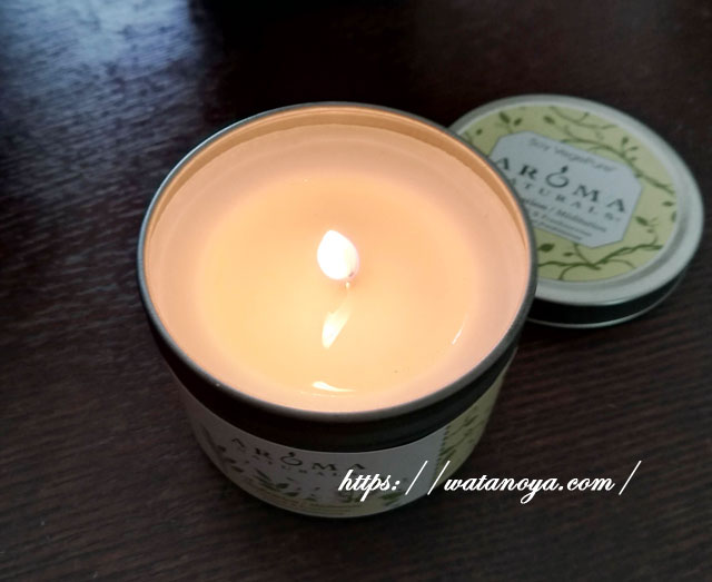 Aroma Naturals, 大豆 ベジピュア、 透明、 トラベル キャンドル、 オレンジ & 杉、 2.8 oz (79.38 g)
