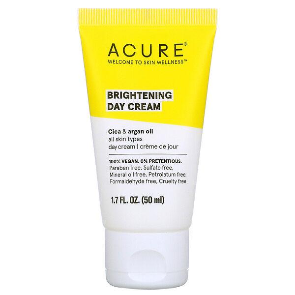 Acure, ブリリアント美白、デイクリーム、1.7 fl oz (50 ml)