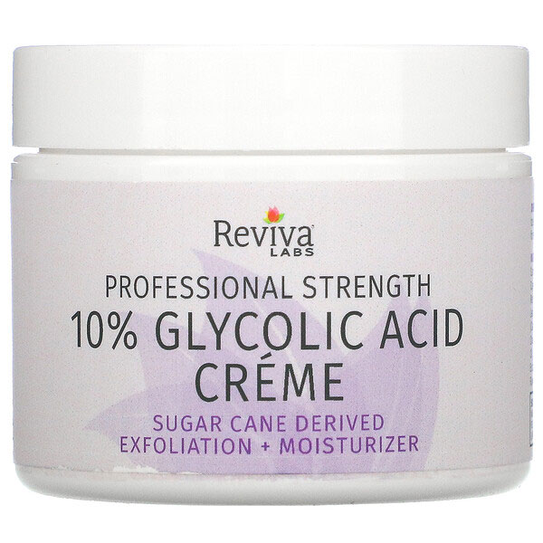 Reviva Labs, 10%グリコール酸クリーム、エイジングケア、42g(1.5oz)
