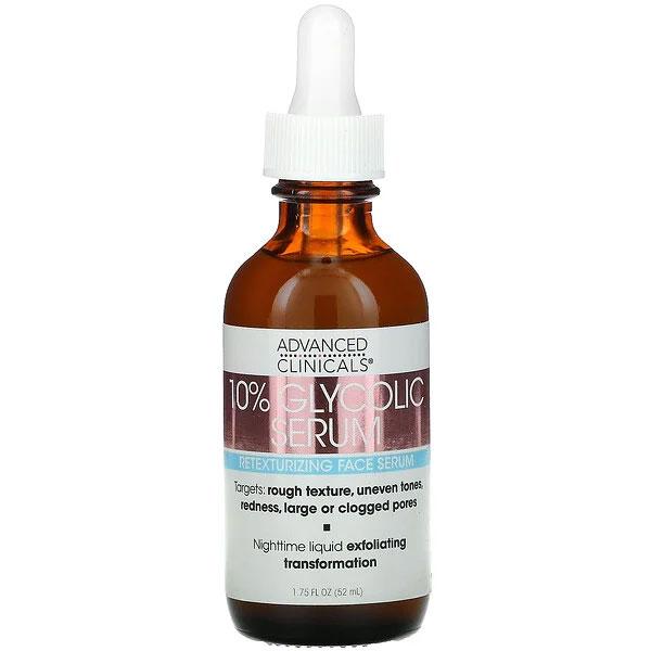 Advanced Clinicals, 10% Glycolic Serum, 1.75 fl oz (52 ml)