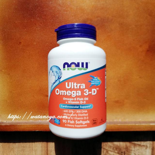 Now Foods, ウルトラオメガ3-D、魚使用ソフトジェル90粒