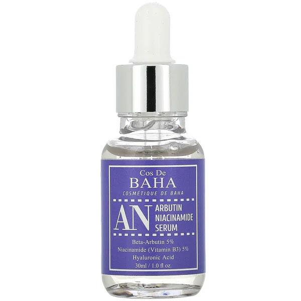 コスデバハ アルブチン ナイアシンアミド Cos De BAHA, AN, Arbutin Niacinamide Serum, 1 fl oz (30 ml)